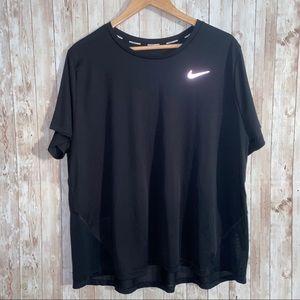 Nike Dri Fit Black Short Sleeve Athletic Tee